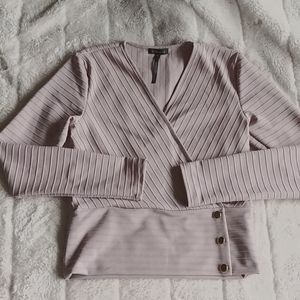 Dynamite taupe top Size S